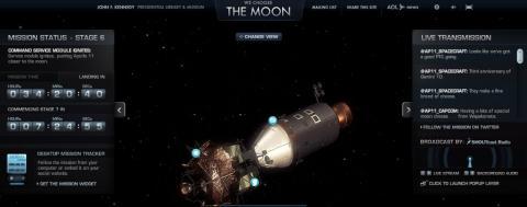 Apollo 11 auf dem Flug zu Mond