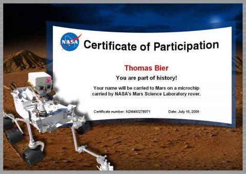 Ich fliegt zum Mars!