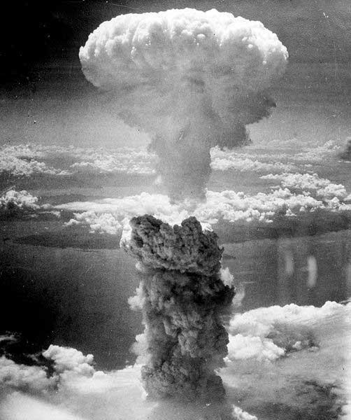 Fatman explodiert über Nagasaki