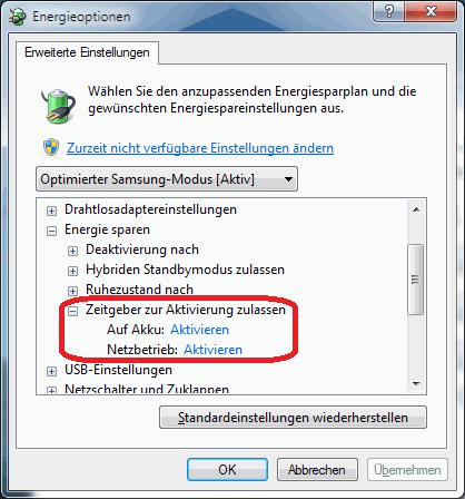 So wecken auch geplante Aufgaben den PC auf.